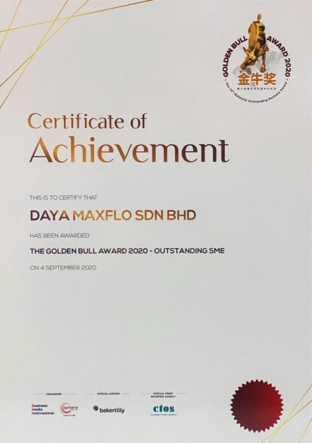 Daya Maxflo_Golden Bull Award 2020