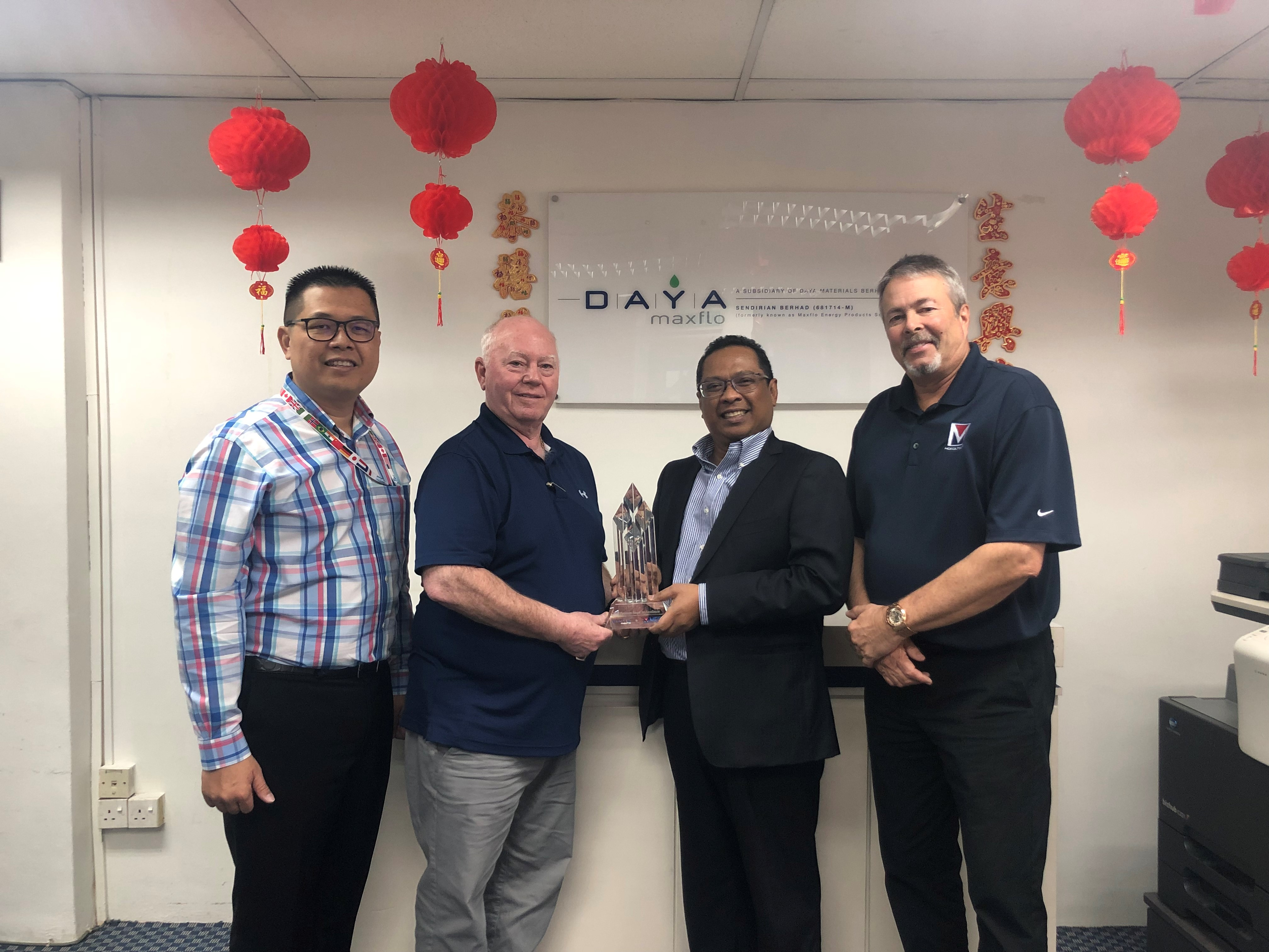 Daya Maxflo Receives MCR Global License Agreement and Wins First 2018 Platinum Award
